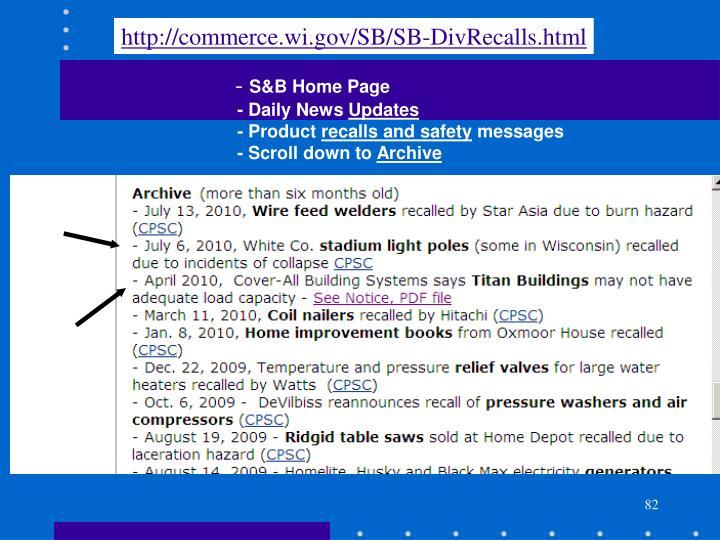 http://commerce.wi.gov/SB/SB-DivRecalls.html