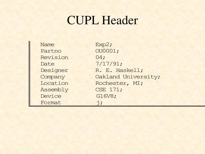 CUPL Header