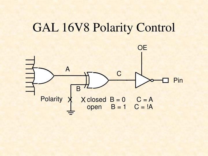 GAL 16V8 Polarity Control