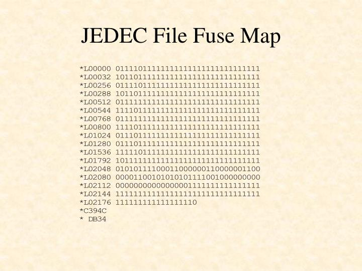 JEDEC File Fuse Map