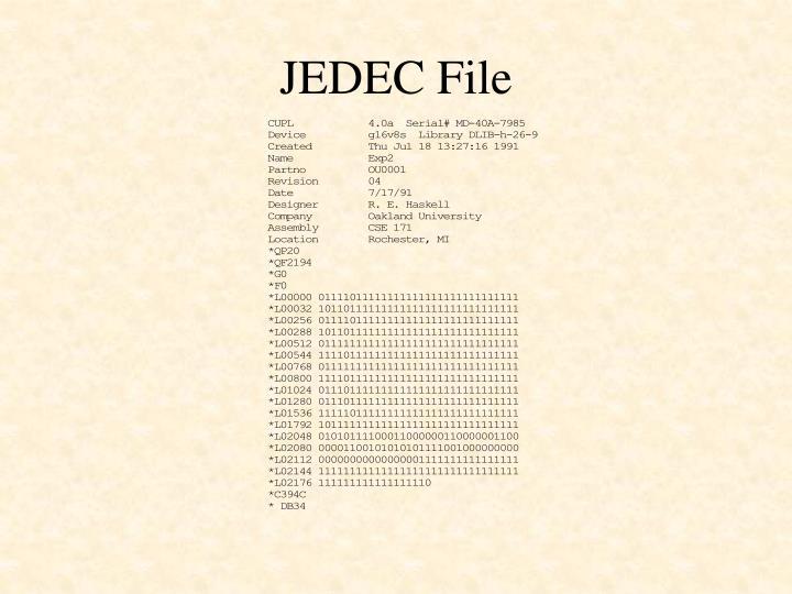JEDEC File