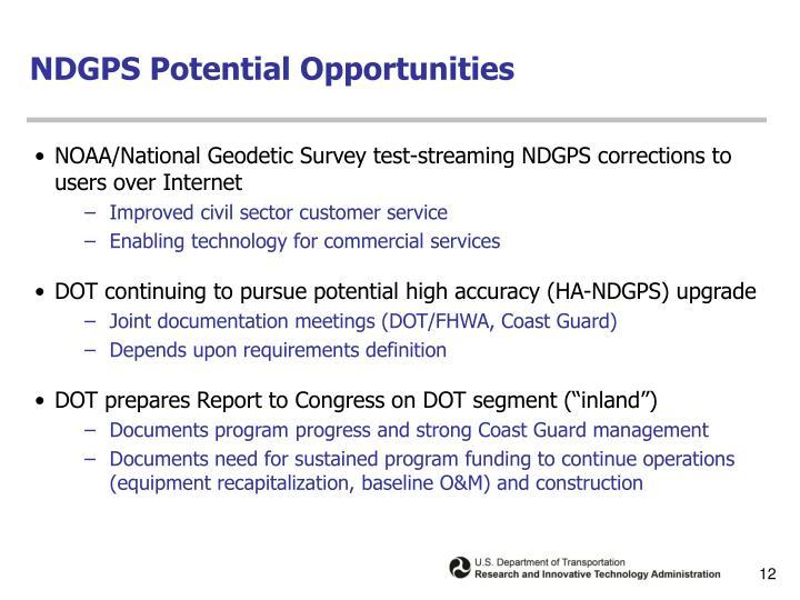 NDGPS Potential Opportunities