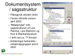 dokumentsystem sagsstruktur