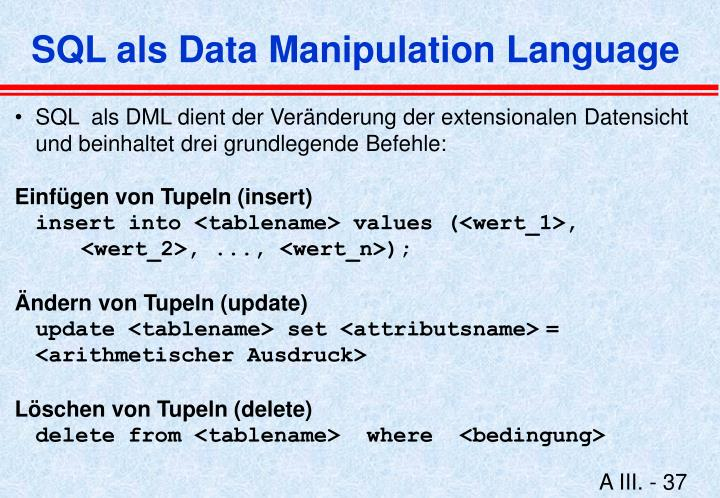 SQL als Data Manipulation Language