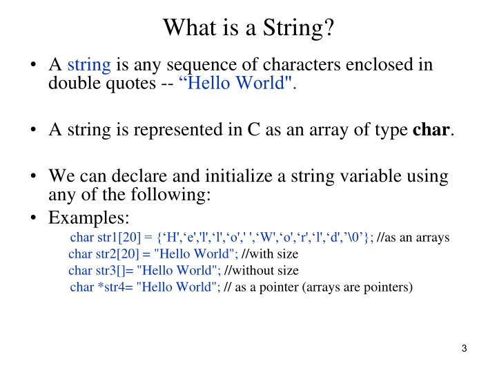 What is a string