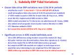 1 subdaily erp tidal variations