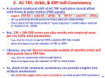 2 ac trf orbit erp self consistency