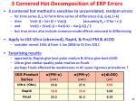 3 cornered hat decomposition of erp errors