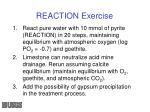 reaction exercise