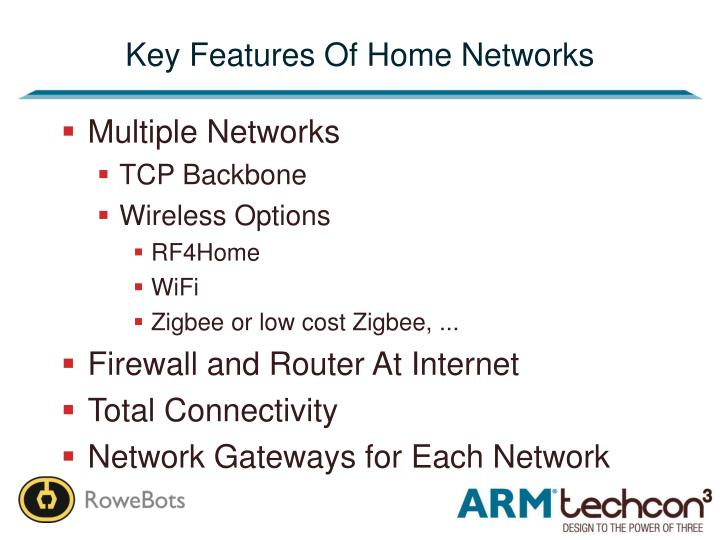 Key Features Of Home Networks