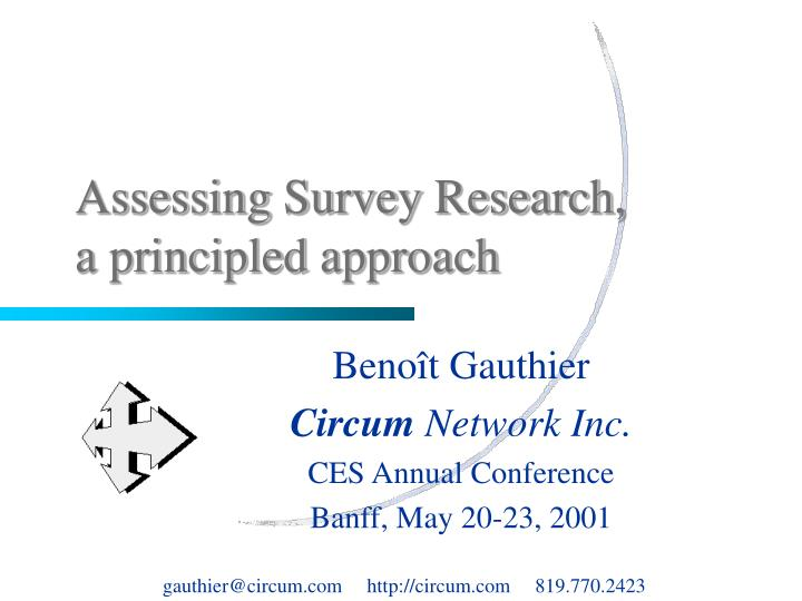 Assessing survey research a principled approach