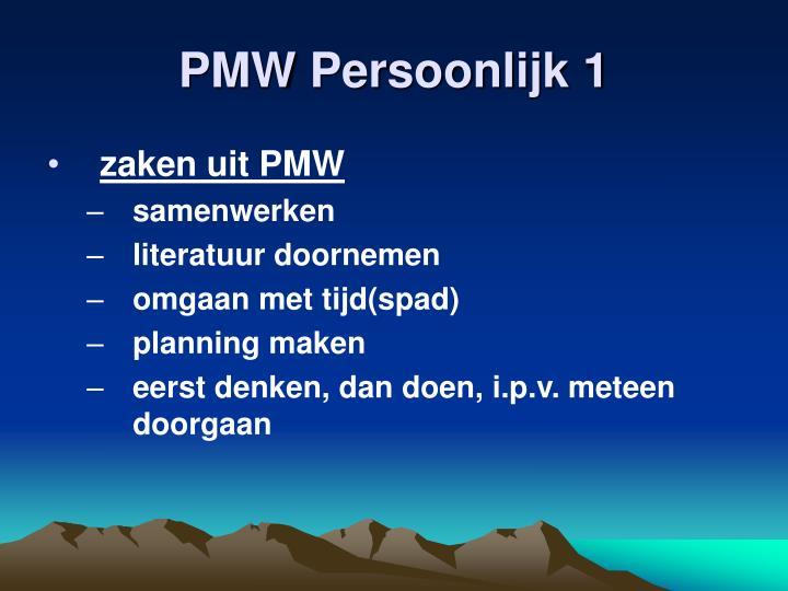 PMW Persoonlijk 1