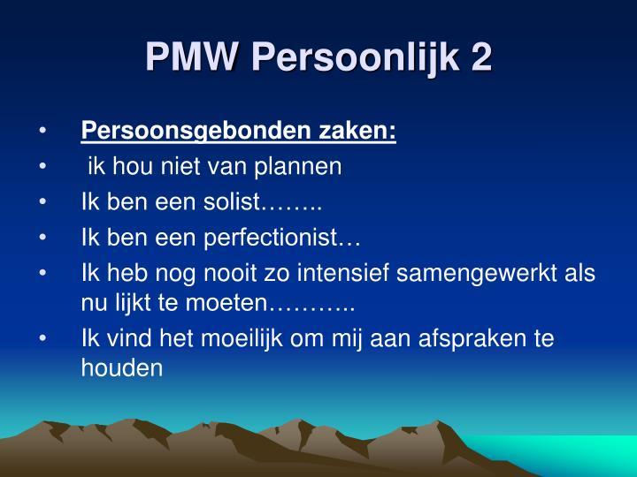 PMW Persoonlijk 2