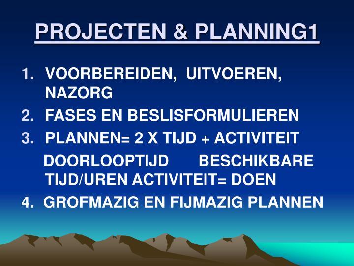 PROJECTEN & PLANNING1