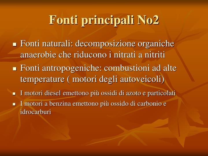 Fonti principali No2