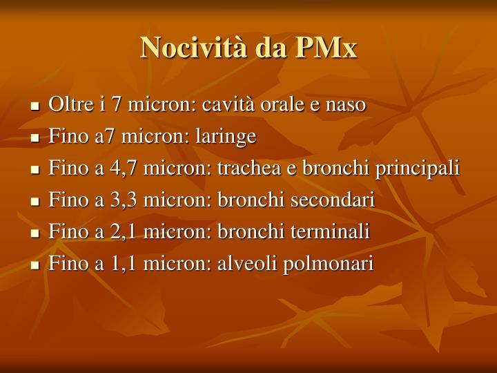 Nocività da PMx