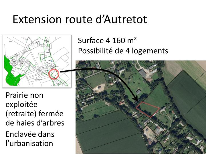 Extension route d'Autretot