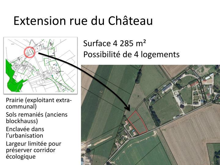 Extension rue du Château