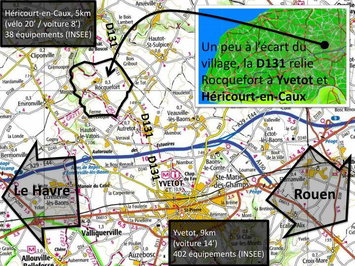Un peu l cart du village la d131 relie rocquefort yvetot et h ricourt en caux