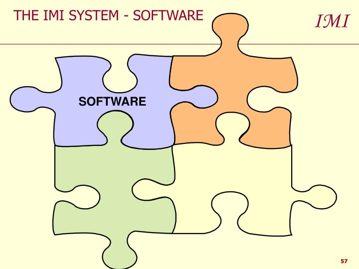 THE IMI SYSTEM - SOFTWARE