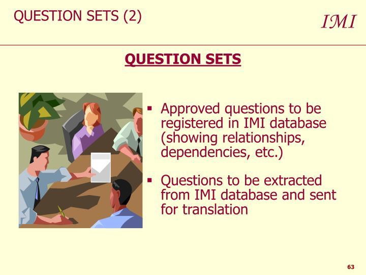 QUESTION SETS (2)