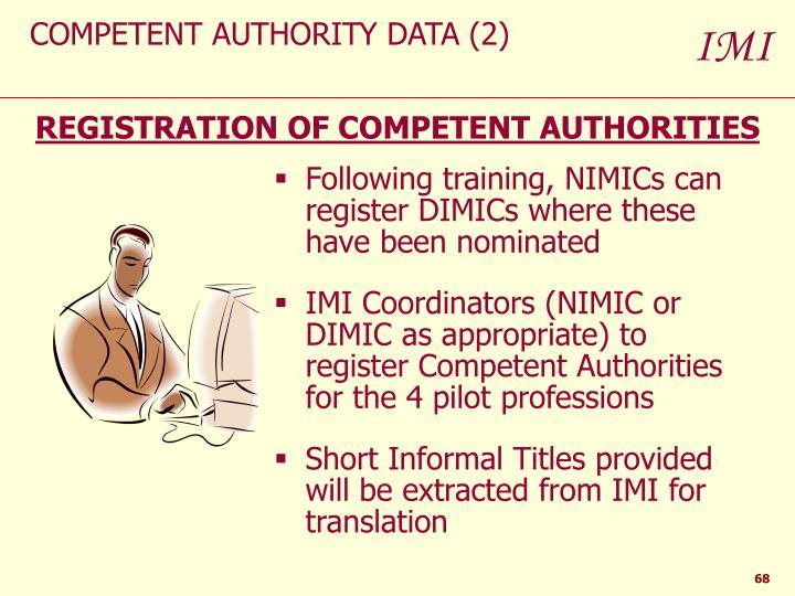COMPETENT AUTHORITY DATA (2)