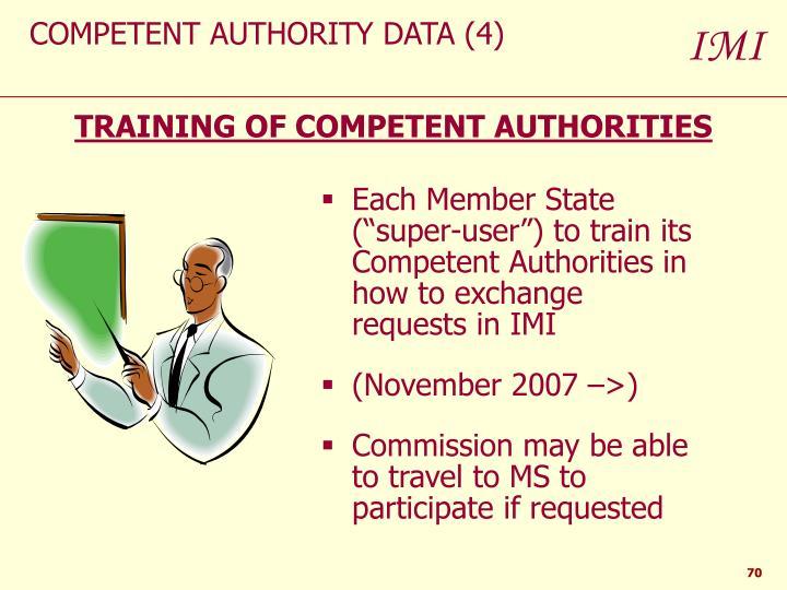 COMPETENT AUTHORITY DATA (4)