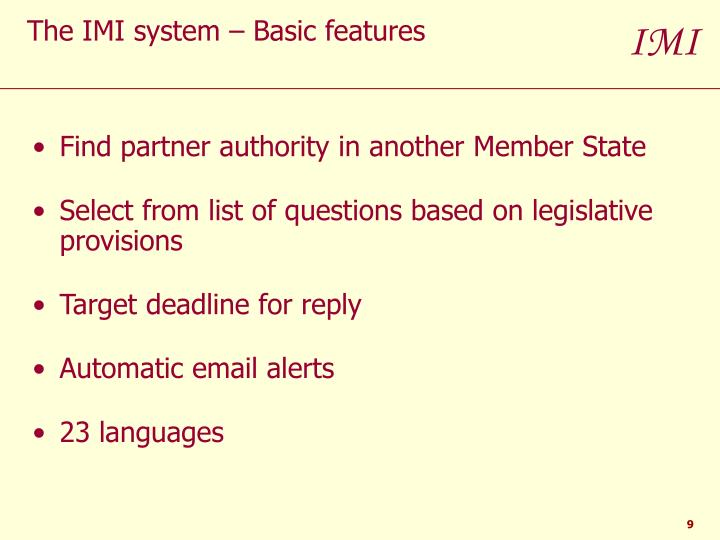 Find partner authority in another Member State