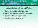 advantages of using plds