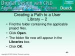 creating a path to a user library 2