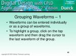 grouping waveforms 1