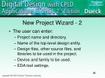 new project wizard 2