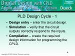 pld design cycle 1
