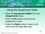 using the assignment editor