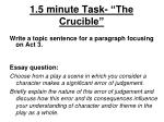 1 5 minute task the crucible