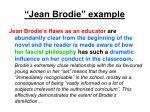jean brodie example