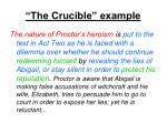 the crucible example