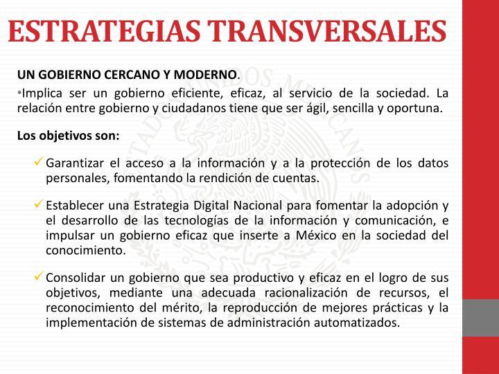 ESTRATEGIAS TRANSVERSALES