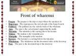 front of wharenui