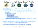 task force on high energy density physics1