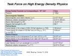 task force on high energy density physics2