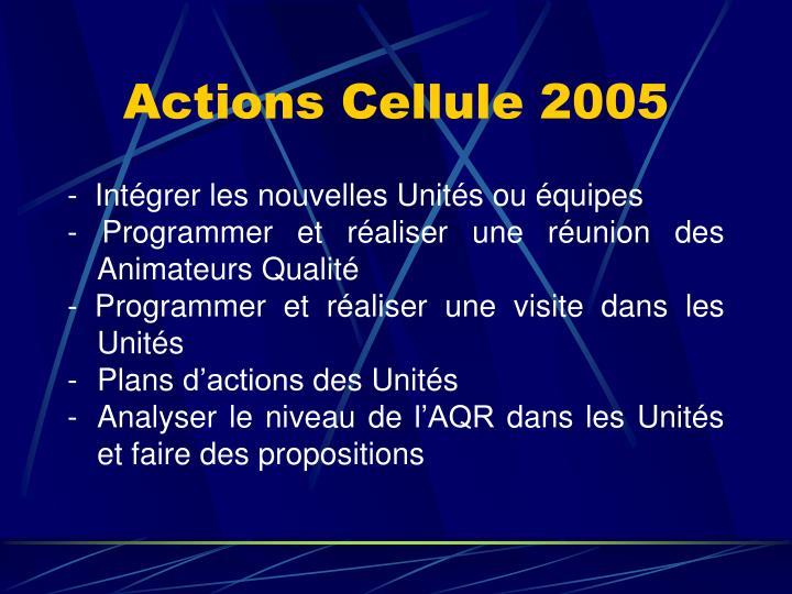 Actions Cellule 2005