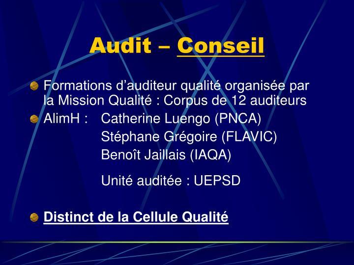 Audit –