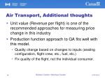 air transport additional thoughts