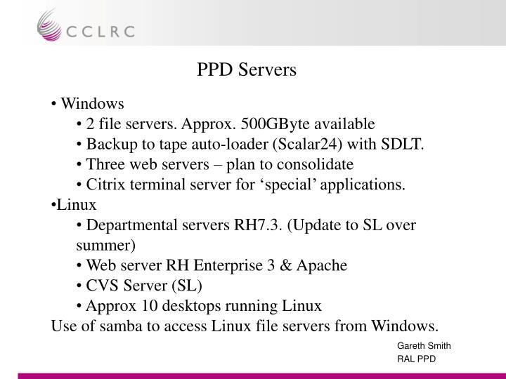PPD Servers