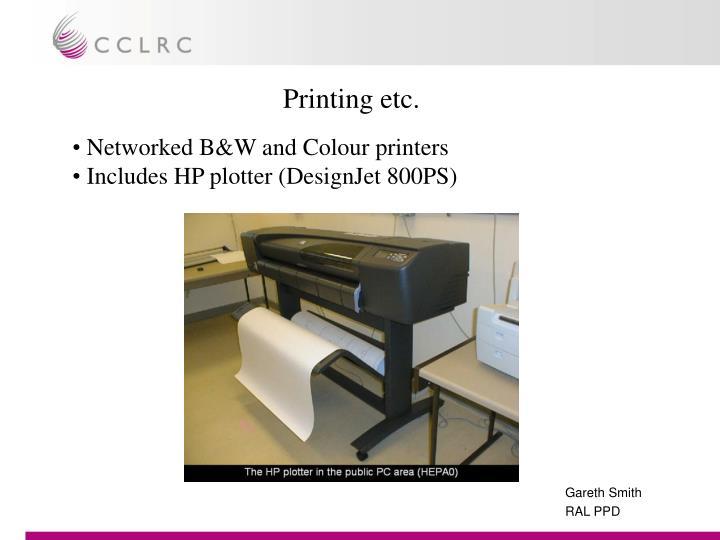 Printing etc.