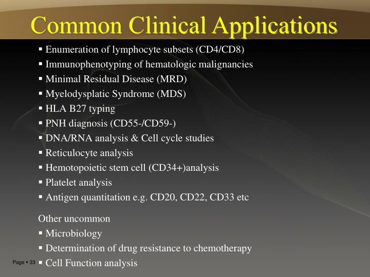 Common Clinical Applications