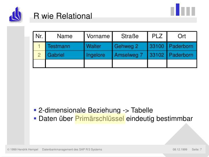 R wie Relational