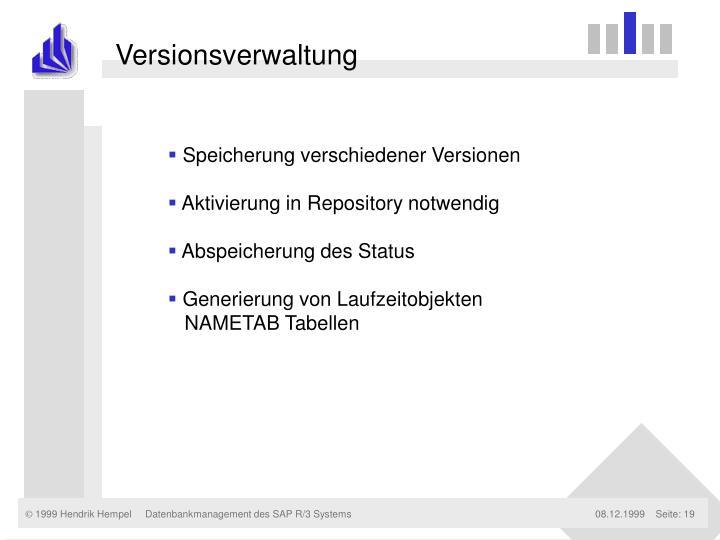 Versionsverwaltung