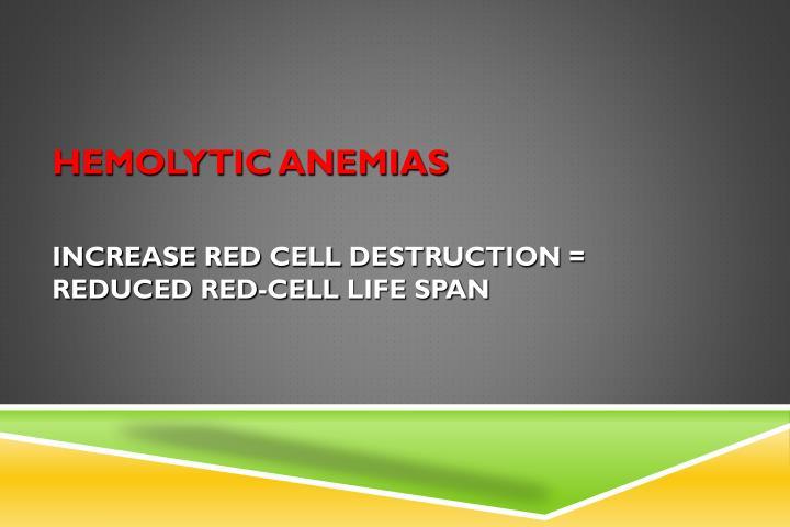 hemolytic anemias n.